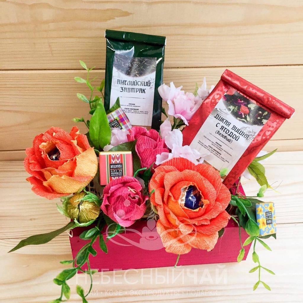 Гвоздик, подарочный букеты с чай москва